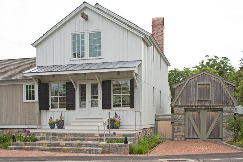 Finished exterior shot of historical renovation