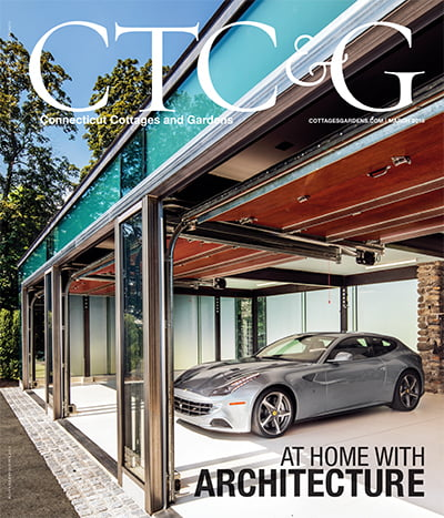 the march cover of connecticut cottages and gardens magazine, the at home with architecture edition