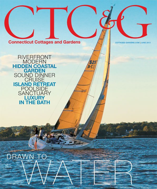 cover of the june 2013 issue of connecticut cottages and gardens magazine