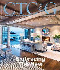 cover of the april 2017 issue of connecticut cottages and gardens magazine