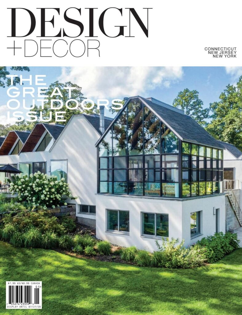 cover of the great outdoors issue of design and decor magazine